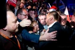 Paweł Kukiz - wieczór wyborczy
